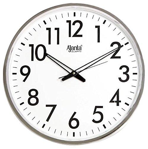 Ajanta Quartz Wall Clock Analogue White 397 (32 cm x 32 cm x 3.5 cm)