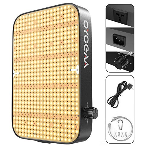 600W LED Grow Light OYOGAA Daisy Chain Dimmable Full Spectrum for Indoor Plants Veg Bloom Greenhouse Lamps with Updated 588pcs LEDs
