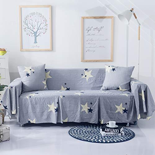 KongEU Haustierfreundlicher Sofabezug für Sofas, schnelle Passform, Rutschfest, Sofabezug, für 1/2/3/4 Sitzer, Polyester, Star-Grey, 2 Seater - 200 * 260cm