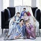 Gaodim HOJJP BTS Jimin J-Hope Blanket Super Soft Blanket, Light Plush Bed Blanket, Suitable for Adults and Children to Use 50'' X40