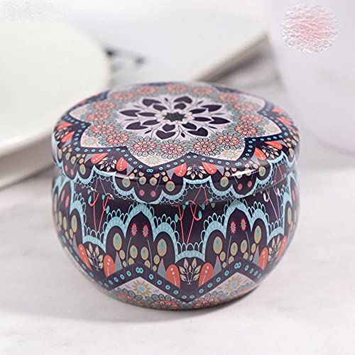 Retro Floral Tin Can Lovely Mini Gift Jewelry Tin Box Cookie Candy Tea Storage Box Candy Gift Case 1PC-As Pic