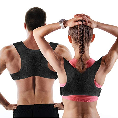 Posture Corrector for Men and Women | Discreet Under Clothes Comfortable and Effective Clavicle Brace for Neck Shoulder Back Pain Relief Fully Adjustable Spinal Brace for Slouching