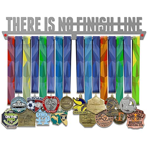 VICTORY HANGERS There is No Finish Line Medal Hanger Display