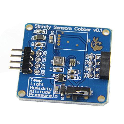 Bluelover 4-in-1 temperatuur + druk + hoogte- + lichtsensormodule voor Rpi/Arduino