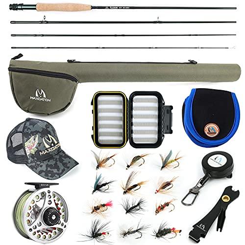 M MAXIMUMCATCH Maxcatch Extreme Fishing Combo Kit 3/5/6/8 Weight,...