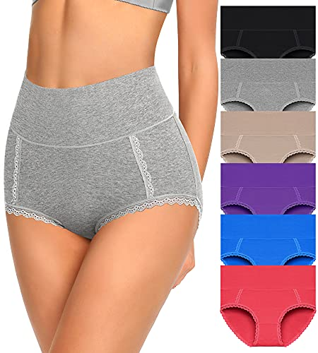 Womens Underwear Cotton High Waisted Panties Soft Ropa Interior Femenina Pregnancy Must Haves Tummy Control Calzones De Mujer Briefs For Ladies My Orders Placed By Me Your Recent Delivered Archived (Multipack,Large)