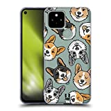 Head Case Designs Corgi Dog Head Patterns Soft Gel Case and Matching Wallpaper Compatible with Google Pixel 4a 5G