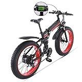 SHIJING Bicicleta eléctrica 1000W eléctrica Bici de la Playa 4.0 Fat Tire Bicicleta eléctrica de 48V para Hombre de Bicicleta de montaña de Nieve E-Bici de la Bicicleta de 26 Pulgadas