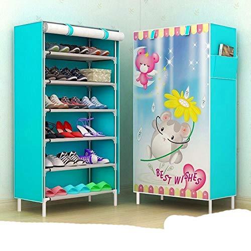 Zapato para colgar O 10 Almacenamiento de zapatos de bolsillo detr¨¢s de la puerta 36 pares Estante para colgar en la pared para zapatos para s-purple