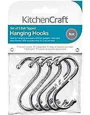 Keuken Craft Pack van vijf verchroomde S haken