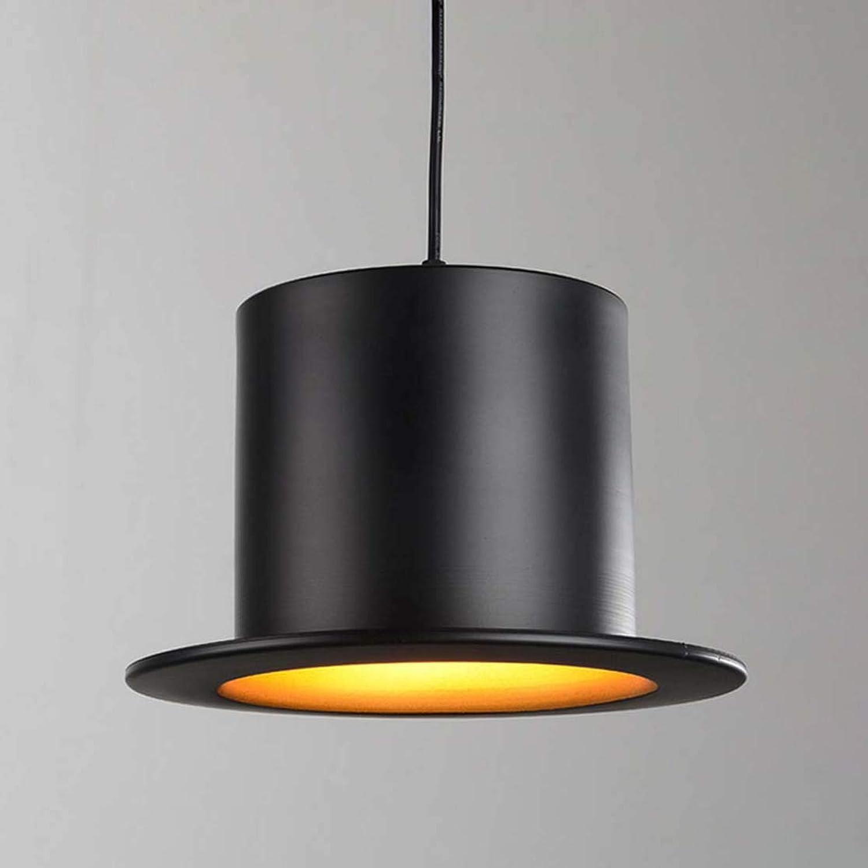 E27  1 Kreative Retro Kronleuchter, Nordic Persnlichkeit Verstellbarer Hut Form Hngende Lampe, Wohnzimmer Bar Cafe Deckenpendelleuchte,A