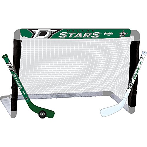 Franklin Sports NHL Team Lizenzprodukt Knie-Hockey-Set–inkl. 2Mini Hockey Sticks und One Schaum Mini Hockey Ball, Unisex, Dallas Stars