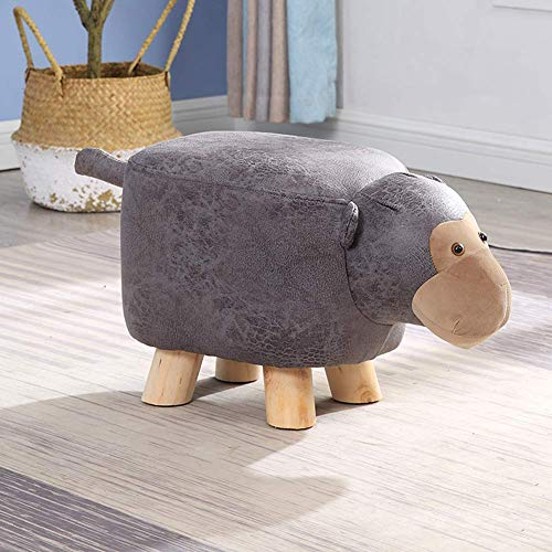 HEWEI Children's Ottoman Footstool Home Creative Stools Pine Low Stools Solid Wood Sofa Bench Children's Best Gift for Balcony Living Room Bedroom I