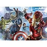 Happy Birthday Superhero Backdrop 7x5 Vinyl Avengers Endgame Birthday Party Background for Children Baby Shower Party Decoration Studio Backgrounds for Photoshoot
