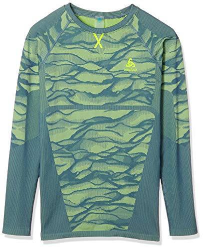 Odlo BL Blackcomb T-Shirt à Manches Longues pour Homme XL Bering Sea – Safety Yellow (Fluo) – Safety Yellow (Fluo).