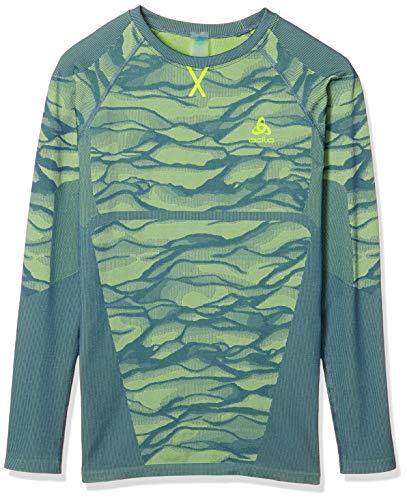 Odlo BL Blackcomb T-Shirt à Manches Longues pour Homme Jaune Fluo Taille XL