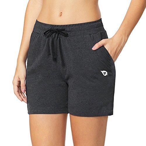 BALEAF Women's 5' Active Cotton Shorts Athletic...