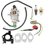 Anzac Carburetor Tune Up Kit + Oil Sensor for Honeywell Generator HW5500 HW5000E HW6200 100924A 100925A 6036 6037 6151 5500 6875W 337cc 389cc Generator Carb