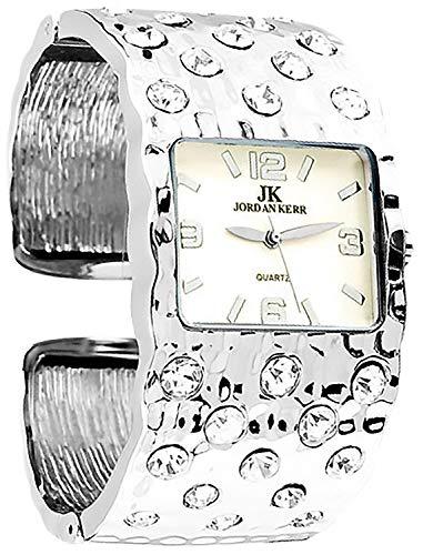 Breite Armreif JORDAN KERR Armbanduhr für Damen nickelfrei