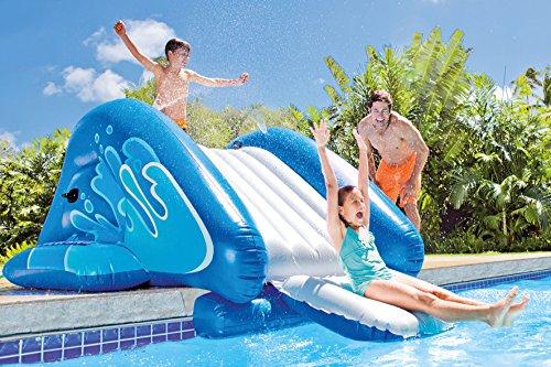 Wasserrutsche aufblasbare riesige Rutsche für den Pool mit Schutzpolster