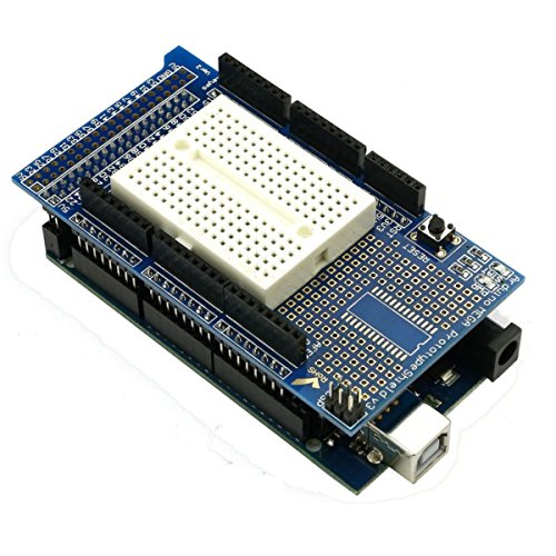 ILS - Tarjeta de Desarrollo Mega 2560 R3 MEGA2560 con Placa de expansió Proto Shield V3 para Arduino