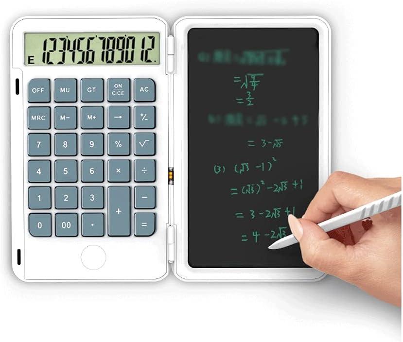 swq Hand-held Calculator 12-Digit Max 61% OFF Display Gray Porta Buttons Columbus Mall Big