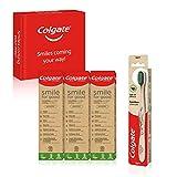 Colgate Kit Eco-friendly con Pasta de Dientes Smile for Good (3 x 75 ml) y Cepillo Bambú Carbón (1 unidad)