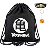 Anime Dragon Ball Z Canvas Bag Drawstring Backpack for Students Boys Girls Gym Travel Organizer Pouch Portable Backpacks (Color B)