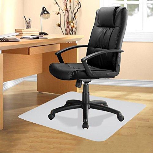 U-Kiss Bodenschutzmatte, Stuhlmatten, Bürostuhlunterlage, 90 x 120 cm, robuste und rutschfeste Stuhlunterlage für Hartböden, Laminat, Parkett und Fliesen (90 x 120 cm)