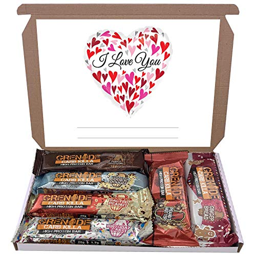 Grenade Carb Killa 6x60g High Protein Bars Bar Gift Hamper Box Mixed 6 Flavours (I Love You)