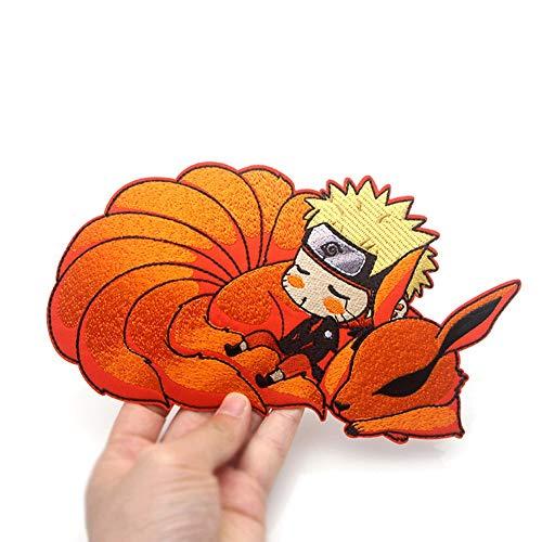 MXLY 1 Stück Anime Uzumaki Naruto Patches bestickt zum Aufbügeln auf Kleidung DIY Kleidung Aufkleber für Kleidung, Jacken, Rucksäcke, Jeans