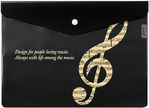 楽譜 ピアノ A4 マチ付き楽譜ケース 音符 個別ギフトラッピング済み