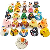 The Dreidel Company ABCs Rubber Duck Toy Duckies for Kids, Bath Birthday Gifts Baby Showers Classroom Summer Beach and Pool Activity, 2' (26-Pack)