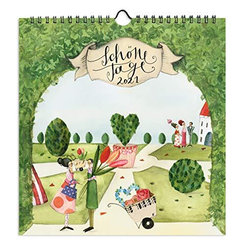 Kalender 2021 Wandkalender quadratisch | Jahreskalender mit Monatskalendarium| Dekorativer Monatsplaner, zum Aufhängen für Zuhause oder im Büro