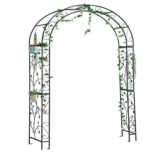 D_HOME Garden Arch Gate Door For Plants And Flower Climbing, Garden Growth Support, Ornamental Garden Gate Outdoor Entry Door Arch Climbing, Wedding Ceremony Decoration, Weatherproof