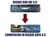 KALEA-INFORMATIQUE  - Adaptateur Convertisseur IDE vers SATA 1, 2 ou 3 - IDE 3.5' 40...
