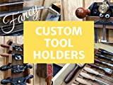 Unnecessarily Fancy Custom Walnut Tool Holders for Chisels, Spokeshaves, Router...