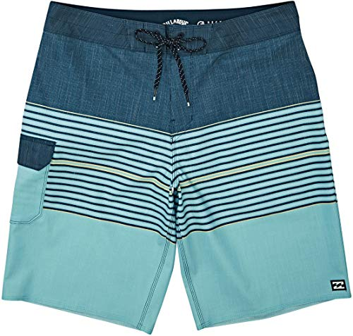 Billabong Men's 20 Inch Outseam Performance Stretch All Day Pro Boardshort, Teal, 33