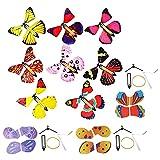 Audasi 20 Piezas Mariposa Voladora mágicas Plastico Juego De Flying Butterfly Para Cumpleaños Aniversario Regalo Sorpresa