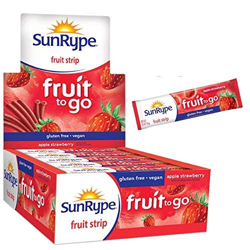 SunRype Fruit Snacks Apple Strawberry Fruit to Go Strips (Case of 55)