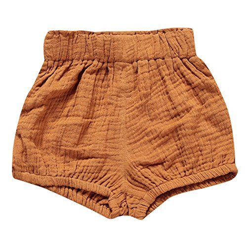 Brightup Unisex Mädchen Jungen Baumwolle Leinen Bloomer Shorts Baby Höschen