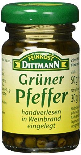 Feinkost Dittmann Grüner Pfeffer in Weinbrand eingelegt Glas (1 x 50 g)