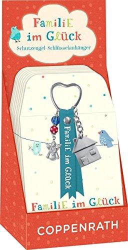 Schlüsselanhänger - Schutzengel-Schlüsselanhänger Familie im Glück