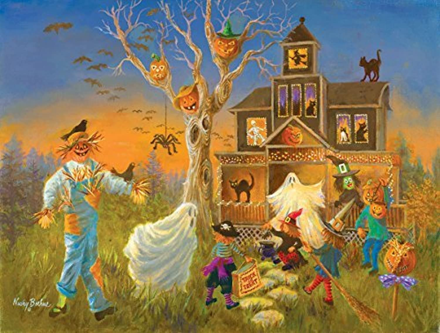 Spooky Halloween, A 300 Piece Jigsaw Puzzle by SunsOut by SunsOut