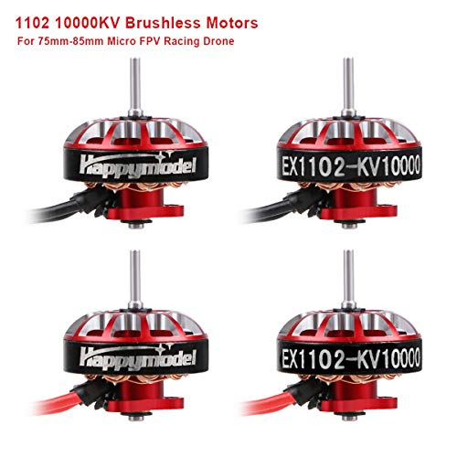 4pcs 1102 10000KV Motores sin escobillas 2S-3S EX1102 Micro Drone Motor para FPV Racing Tiny Whoop 66mm Ductless Frame 75mm-85mm Micro FPV Racing Drone como Mobula7 HD