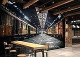 Papier Peint Panoramique 3D Ruines Industrielles Rétro Tapisserie Murales Salon Papier Peint Intissé Mural