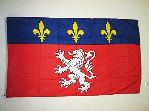 AZ FLAG Bandera de la Provincia DE Lyonnais 150x90cm - Bandera DE Lyon - Lion 90 x 150 cm