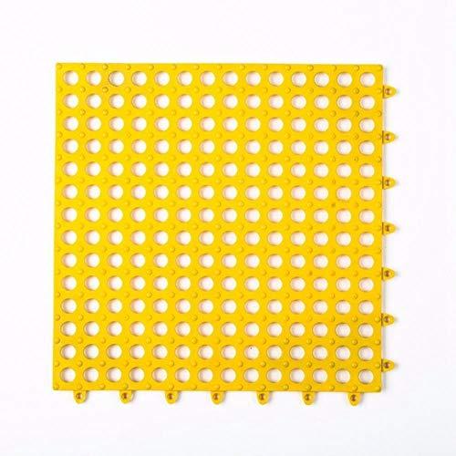 LinZX rutschfeste Badematten Badezimmer Platz Badvorleger für Home Küche Bodenmatten für WC Badezimmer Teppichboden Duschmatte Badteppich,Yellow