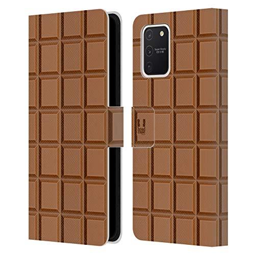 Head Case Designs Tableta De Chocolate Achocolatado Carcasa de Cuero Tipo Libro Compatible con Samsung Galaxy S10 Lite