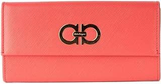 Salvatore Ferragamo Women's Gancini Icona Continental Foldover Wallet Purse Rose